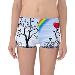 Love Hill   Rainbow Boyleg Bikini Bottoms