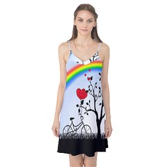 Love Hill   Rainbow Camis Nightgown