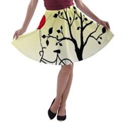 Romantic sunrise A-line Skater Skirt