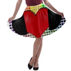 Music A-line Skater Skirt