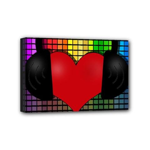 Love Music Mini Canvas 6  x 4