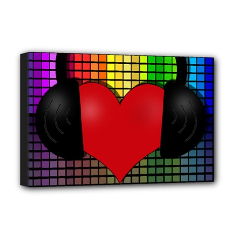 Love Music Deluxe Canvas 18  X 12