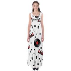 Music pattern Empire Waist Maxi Dress