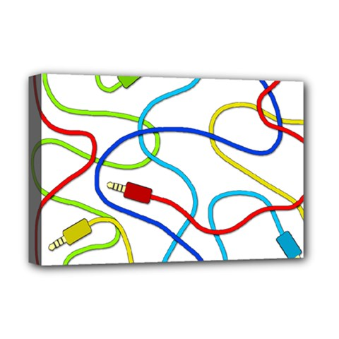 Colorful Audio Cables Deluxe Canvas 18  X 12