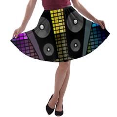 Loudspeakers  A-line Skater Skirt