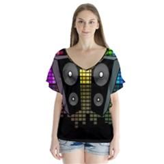 Loudspeakers  Flutter Sleeve Top