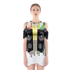 Loudspeakers - transparent Shoulder Cutout One Piece