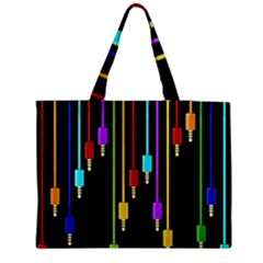 Plug in Medium Zipper Tote Bag