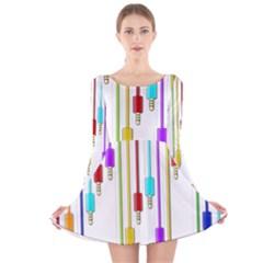 Plug in Long Sleeve Velvet Skater Dress