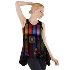 Energy of the sound Side Drop Tank Tunic