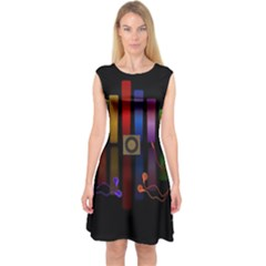 Energy of the sound Capsleeve Midi Dress