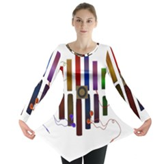 Energy of the sound Long Sleeve Tunic