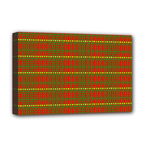 Fugly Christmas Xmas Pattern Deluxe Canvas 18  X 12
