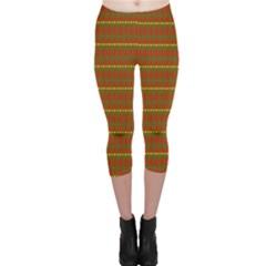 Fugly Christmas Xmas Pattern Capri Leggings
