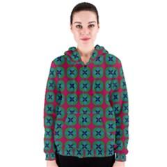 Geometric Patterns Women s Zipper Hoodie