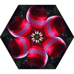 Glass Ball Decorated Beautiful Red Mini Folding Umbrellas