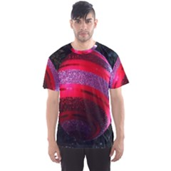 Glass Ball Decorated Beautiful Red Men s Sport Mesh Tee