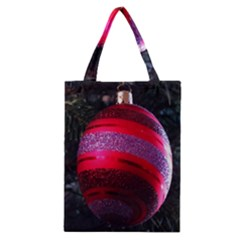 Glass Ball Decorated Beautiful Red Classic Tote Bag