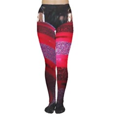 Glass Ball Decorated Beautiful Red Women s Tights