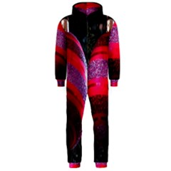 Glass Ball Decorated Beautiful Red Hooded Jumpsuit (Men)