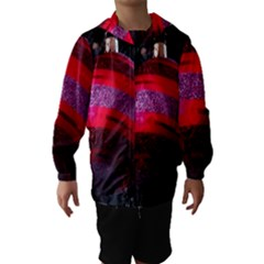 Glass Ball Decorated Beautiful Red Hooded Wind Breaker (kids)