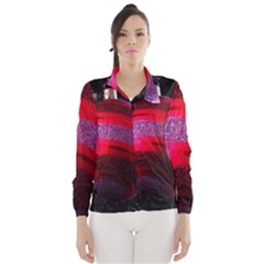 Glass Ball Decorated Beautiful Red Wind Breaker (Women)