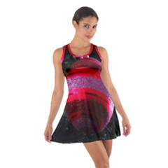 Glass Ball Decorated Beautiful Red Cotton Racerback Dress