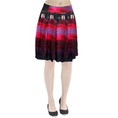 Glass Ball Decorated Beautiful Red Pleated Skirt