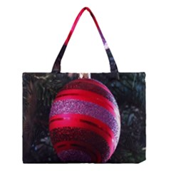 Glass Ball Decorated Beautiful Red Medium Tote Bag