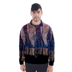 Full Moon Forest Night Darkness Wind Breaker (Men)