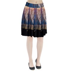 Full Moon Forest Night Darkness Pleated Skirt