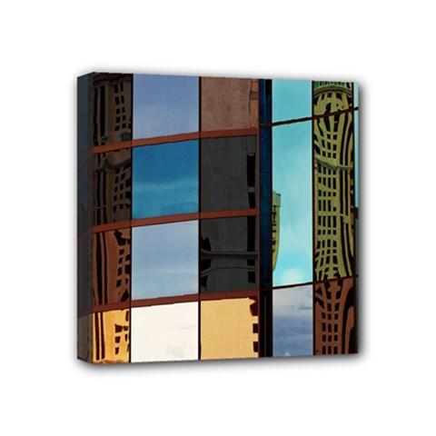 Glass Facade Colorful Architecture Mini Canvas 4  x 4