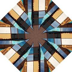 Glass Facade Colorful Architecture Straight Umbrellas