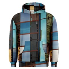 Glass Facade Colorful Architecture Men s Pullover Hoodie