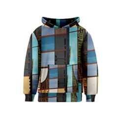 Glass Facade Colorful Architecture Kids  Pullover Hoodie
