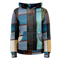 Glass Facade Colorful Architecture Women s Pullover Hoodie