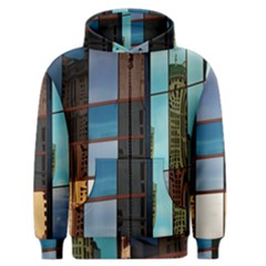 Glass Facade Colorful Architecture Men s Zipper Hoodie