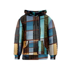 Glass Facade Colorful Architecture Kids  Zipper Hoodie