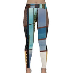 Glass Facade Colorful Architecture Classic Yoga Leggings