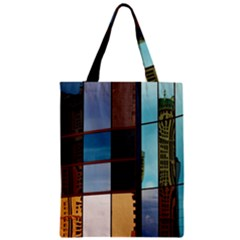 Glass Facade Colorful Architecture Zipper Classic Tote Bag