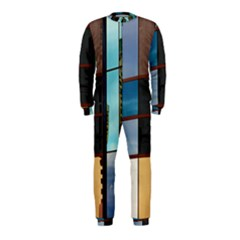 Glass Facade Colorful Architecture OnePiece Jumpsuit (Kids)