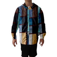 Glass Facade Colorful Architecture Hooded Wind Breaker (Kids)