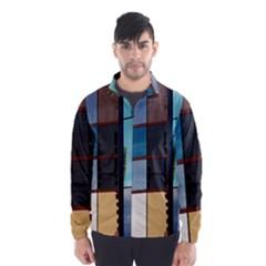 Glass Facade Colorful Architecture Wind Breaker (Men)