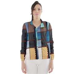 Glass Facade Colorful Architecture Wind Breaker (Women)