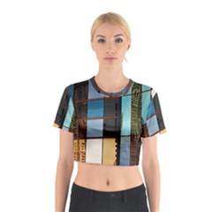 Glass Facade Colorful Architecture Cotton Crop Top