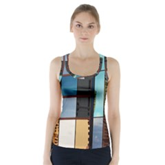 Glass Facade Colorful Architecture Racer Back Sports Top