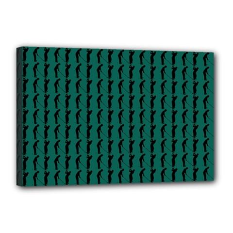 Golf Golfer Background Silhouette Canvas 18  x 12