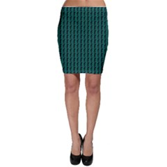 Golf Golfer Background Silhouette Bodycon Skirt