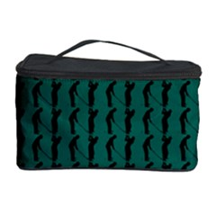 Golf Golfer Background Silhouette Cosmetic Storage Case