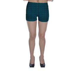 Golf Golfer Background Silhouette Skinny Shorts